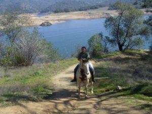 riding at Folsom Lake